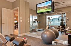 Lake country show home. Love this home gym. Home Gyms http://amzn.to/2l56zQc