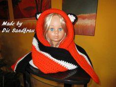 Kapuzenschals - Kapuzenschal  mit oder ohne Ohren gehäkelt - ein Designerstück von DieSandfrau bei DaWanda