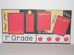 12x12 Premade Scrapbook Pages  School  1st by SunnygirlKisses, $20.00