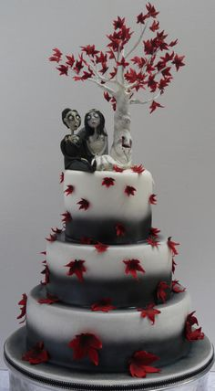 Freaky Folk Wedding Cake - For all your cake decorating supplies, please visit craftcompany.co.uk