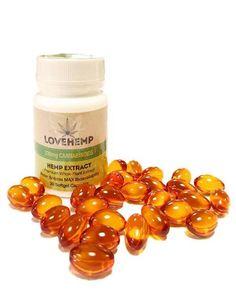 CBD Capsules by Love Hemp UK (30 x 11mg CBD oil capsules) for the Ageless tub and capsules