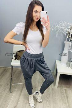 Grafitové dámske tepláky háremky Moda Xl, Harem Pants, Plus Size, Fashion, Moda, Harem Trousers, Fashion Styles, Harlem Pants, Fashion Illustrations