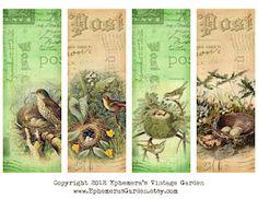 Bird Nest Bookmarks.  Enjoy!