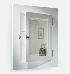 Palmer Medicine Cabinet: FSC Certified Solid Wood from Rejuvenation Rustic Bathroom Vanities, Wood Bathroom, Bathroom Cabinets, Bathroom Ideas, Bath Ideas, Master Bathroom, Downstairs Bathroom, Bathroom Fixtures, Bathroom Furniture