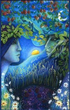 Goddess and Greenman ~ by Amanda Clark