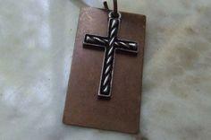 Men's Cross Necklace First Communion by BraceletsbyLinda on Etsy, $30.00