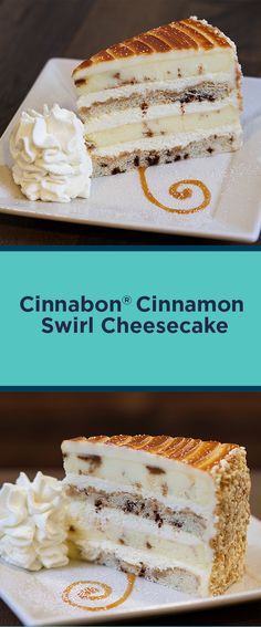 Layers of Cinnabon® Cinnamon Cheesecake and Vanilla Crunch Cake Topped with Cream Cheese Frosting and Caramel. Cinnamon Cheesecake, Cheesecake Cake, Cheesecake Recipes, Dessert Recipes, Cinnabon Cake, Cinnabon Recipe, Just Desserts, Delicious Desserts, Cheesecake Factory Copycat
