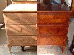 Prima e dopo / Before and after Verona Italia, Restoration, Dresser, Antiques, Furniture, Home Decor, Antiquities, Powder Room, Antique