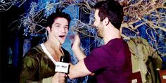 His hugging a friend smile will warm the coldest of hearts. | Community Post: 12 Very Important GIFs Of Tyler Posey Smiling