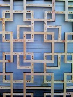 Kreg pocket holes used to create beautiful wood art.