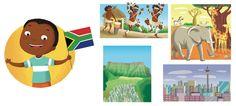 I'm Ready To Explore My World - Barbara Bongini #southafrica #world #country #flag #culture #food #childrensbook #illustration #kidlitart #barbarabongini