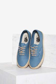 15b44261993d Got it drille d in yet  Vans s Canvas Espadrille Sneaker features a beige  espadrille
