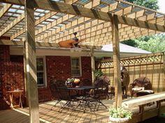 pergola bois idee salon veranda