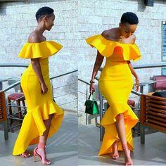 So beautiful 😍 Short African Dresses, Latest African Fashion Dresses, African Print Fashion, Chic Outfits, Dress Outfits, Fashion Outfits, Fashion Fashion, Classy Fashion, Fashion Details