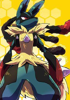 Mega Lucario, Lucario Pokemon, Mega Pokemon, Pokemon Memes, Pokemon Fan Art, Pokemon Stuff, Cool Pokemon Wallpapers, Cute Pokemon Wallpaper, Best Pokemon Ever