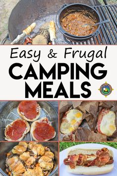 Frugal & Easy Camping Meals - Are you asking what should I cook on our next camping trip? Check out these Easy Camping Meals that won't blow the budget. Ideas include recipes for breakfast, lunch, and dinner.AD #camping #mealplan #LetsCampSmore #campingmeals #campingfood