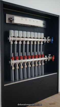 One for Gary Home Heating Systems, Underfloor Heating Systems, Hydronic Heating, Bathroom Plumbing, Plumbing Pipe, Mechanical Room, Plumbing Installation, Heating And Plumbing, Radiant Floor