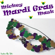 Mickey Mardi Gras Mask // Inspired By Dis