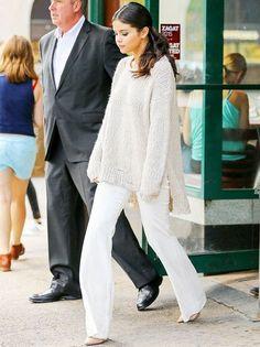 Look inverno Selena Gomez.
