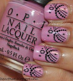 OPI Pedal Faster Suzie and Konad M77 nail art. manicure.