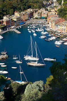 Portofino , Italy  Where Andrea Bocelli filmed a PBS special.