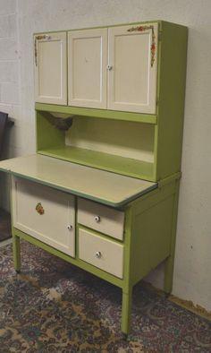 Antique Scheirich Hoosier Cabinet w Enamel Surface and Flour Mill ...