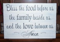 Bless This Food Before Us   Bless The Food Before Us The Family Beside by SnickerdoodleSigns, $99 ...