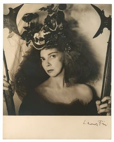Leonor Fini by André Ostier, 1947 - Leonor Fini (1907 – 1996) was an Argentine surrealist painter, designer, illustrator, and author, known for her depictions of powerful women.