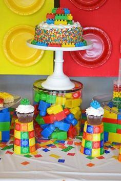Lego cake and decor