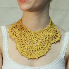 Crochet collar #crochet #yellow