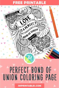 Perfect Bond Of Union Coloring Page JW