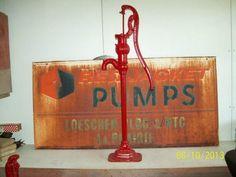 Antique Cast Iron Red Jacket Water Well Pump Old Farm Hand Pump Homesteading Gar | eBay