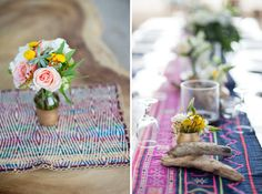 table runners & driftwood