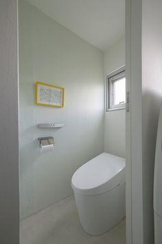トイレ、タンクレス、アクセントウォール、ミントグリーン、リノベーション、三井のリフォーム