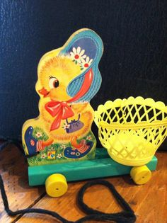 Vintage Easter  Pull Toy