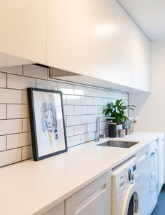 While expecting baby number three this Christchurch family embarked on an ambitions build and the results are a Scandi-inspired dream Laundry Room Design, Laundry In Bathroom, Laundry Rooms, Interior Design Living Room, Living Room Designs, Utility Room Designs, Inside Home, House Plans, Expecting Baby