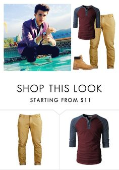 """""""Peter pan"""" by strange-fruit ❤ liked on Polyvore featuring Timberland, men's fashion and menswear"""