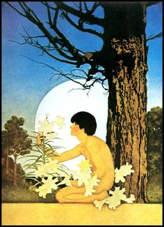 Maxfield Parrish Print Easter 1905 10x14 Art Nouveau Wall Hanging Home Decor Paper Ephemera