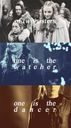 Game of Thrones Fan Art: Arya & Sansa Stark