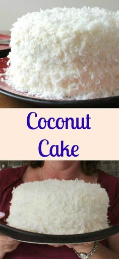 Coconut Cake, a delicious soft, moist cake from scratch, with a delicious cream cheese frosting. Decorated with coconut flakes, a perfect special occasion or Christmas dessert /anitalianinmykitchen.com