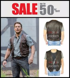 Here comes an outstanding Chris Pratt Jurassic World brown leather vest, latest Fashionable attire available now at Instyle Jackets store. Get Free Fast shipping, free gift and easy returns and exchanges! So, get yours for this winter season today with up to 50% Discounts!    #mensclothing #mensfashion #menswear #mensoutfits #leather #vest #sale #onlinestore #leathervest #discount #christmas #newyear #winter #chrispratt #jurassicworld