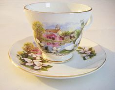 Crown Trent Bone China Staffordshire England Cup and by parkledge, $20.00