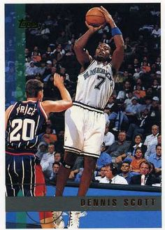 RARE 97/98 TOPPS DENNIS SCOTT DALLAS MAVERICKS MINT