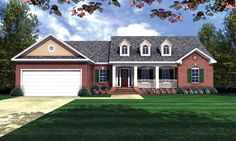 House Plan 59016 | Country Ranch Traditional Plan with 1800 Sq. Ft., 3 Bedrooms, 2 Bathrooms, 2 Car Garage at family home plans