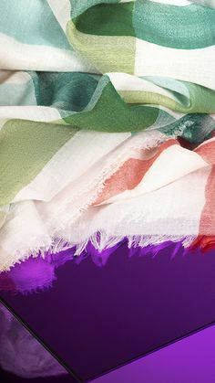 Lightweight wool silk scarves from the Burberry S/S13 accessories collection