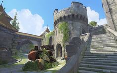 """Overwatch"" Getting New Castle Map Called ""Eichenwalde . Environment Concept Art, Environment Design, Low Poly, Episode Interactive Backgrounds, Fantasy Concept Art, Fantasy Art, Map Background, Building Concept, Baroque Architecture"