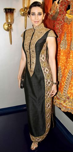 Karisma Kapoor at the launch of designer Mayyur Girotra's https://www.facebook.com/MayyurRGirotraCouture new store in one of his creations