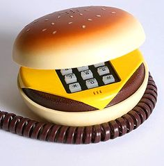 Hamburger Phone, we used to have one! Along with a garfield phone that I believe we still have!