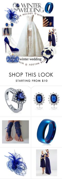 """""""Winter wedding"""" by goncaydogdu ❤ liked on Polyvore featuring Elie Saab, BERRICLE, La Preciosa, West Coast Jewelry, ASOS and Christian Louboutin"""