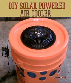 Beat the heat this summer with this DIY solar powered air cooler. DIY Survival Projects, and homemade gear at Survival Life. Survival Project, Survival Life, Survival Prepping, Survival Skills, Survival Gear, Emergency Preparedness, Survival Equipment, Emergency Preparation, Off Grid Survival